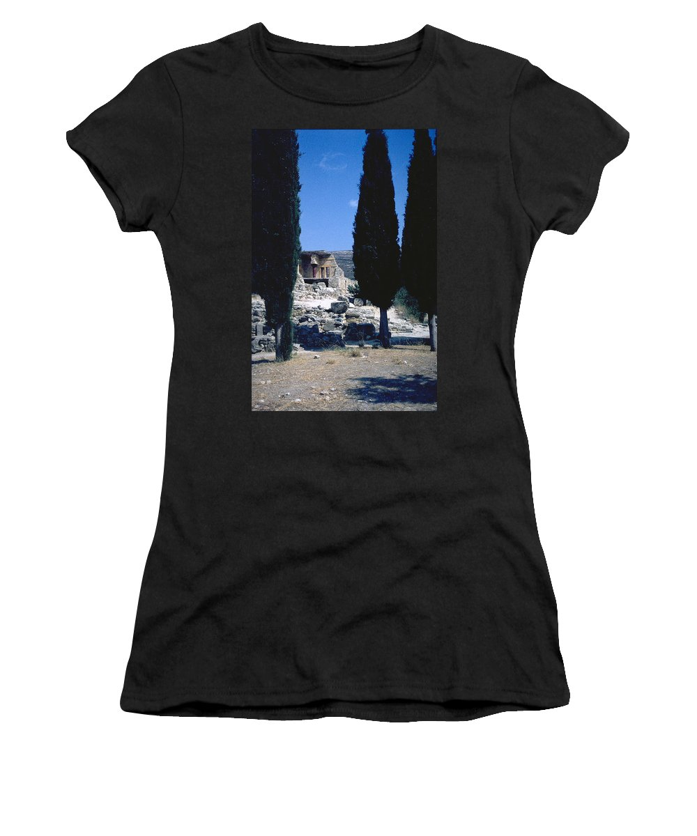 Crete Women's T-Shirt (Athletic Fit) featuring the photograph Crete by Flavia Westerwelle