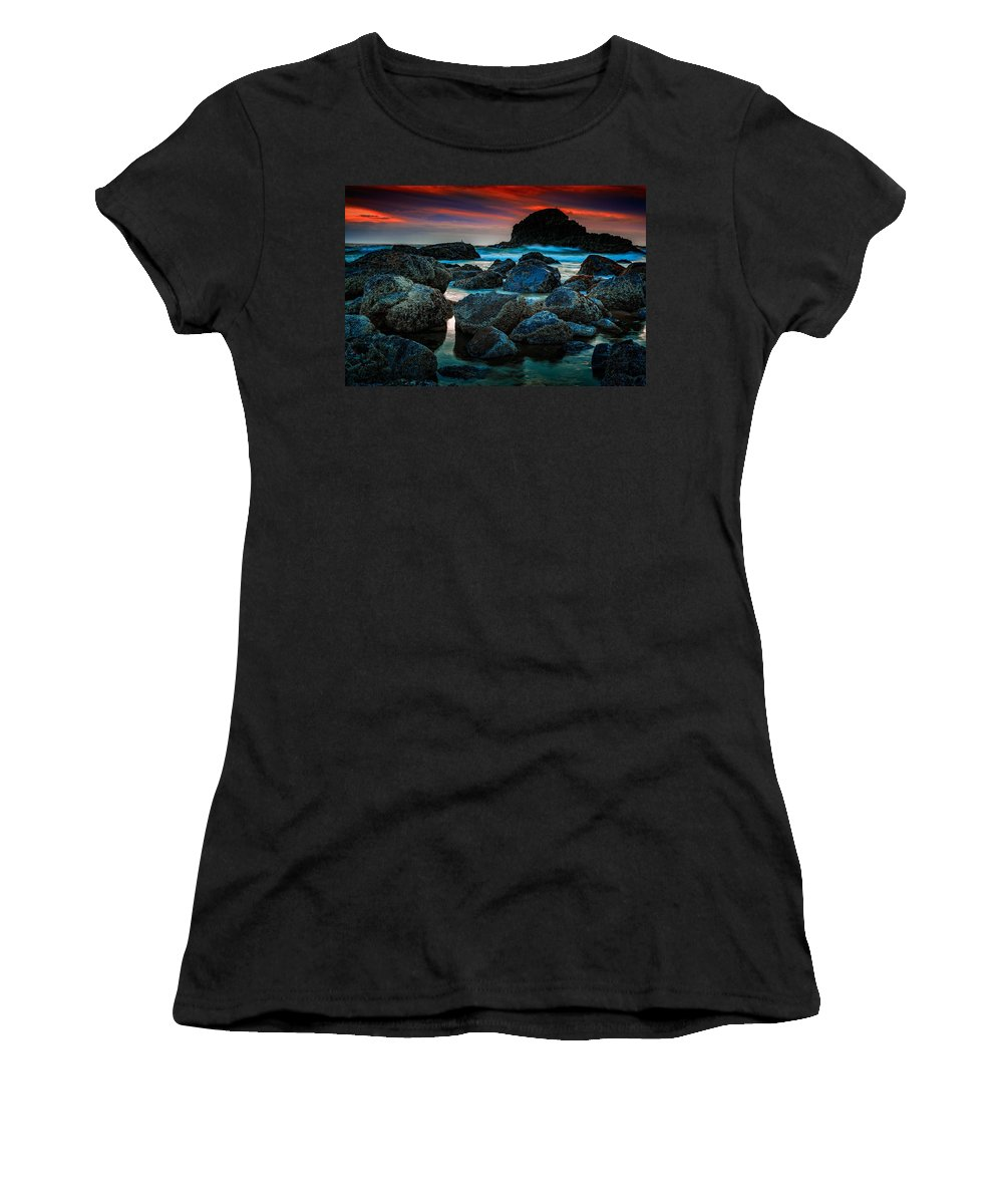 Sunset Women's T-Shirt featuring the photograph Crimson Skies by Rick Berk