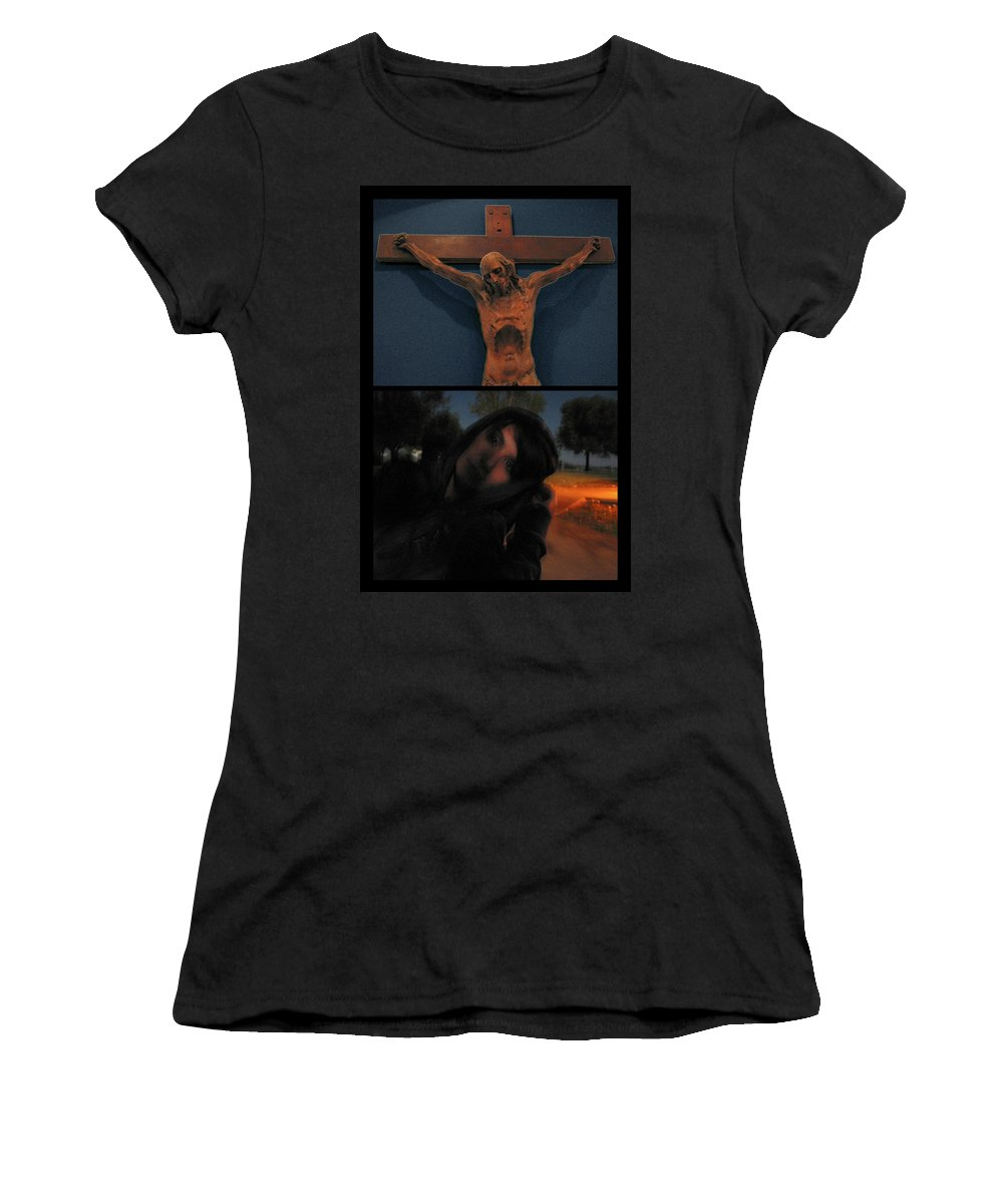 Crucifixion Women's T-Shirt featuring the photograph Crucifixion by James W Johnson
