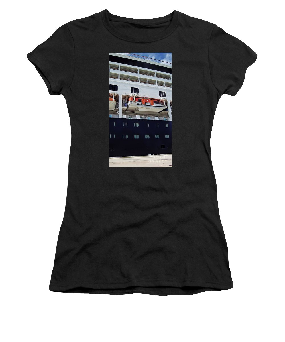 Ship Women's T-Shirt (Athletic Fit) featuring the photograph Cruise Time by D Hackett