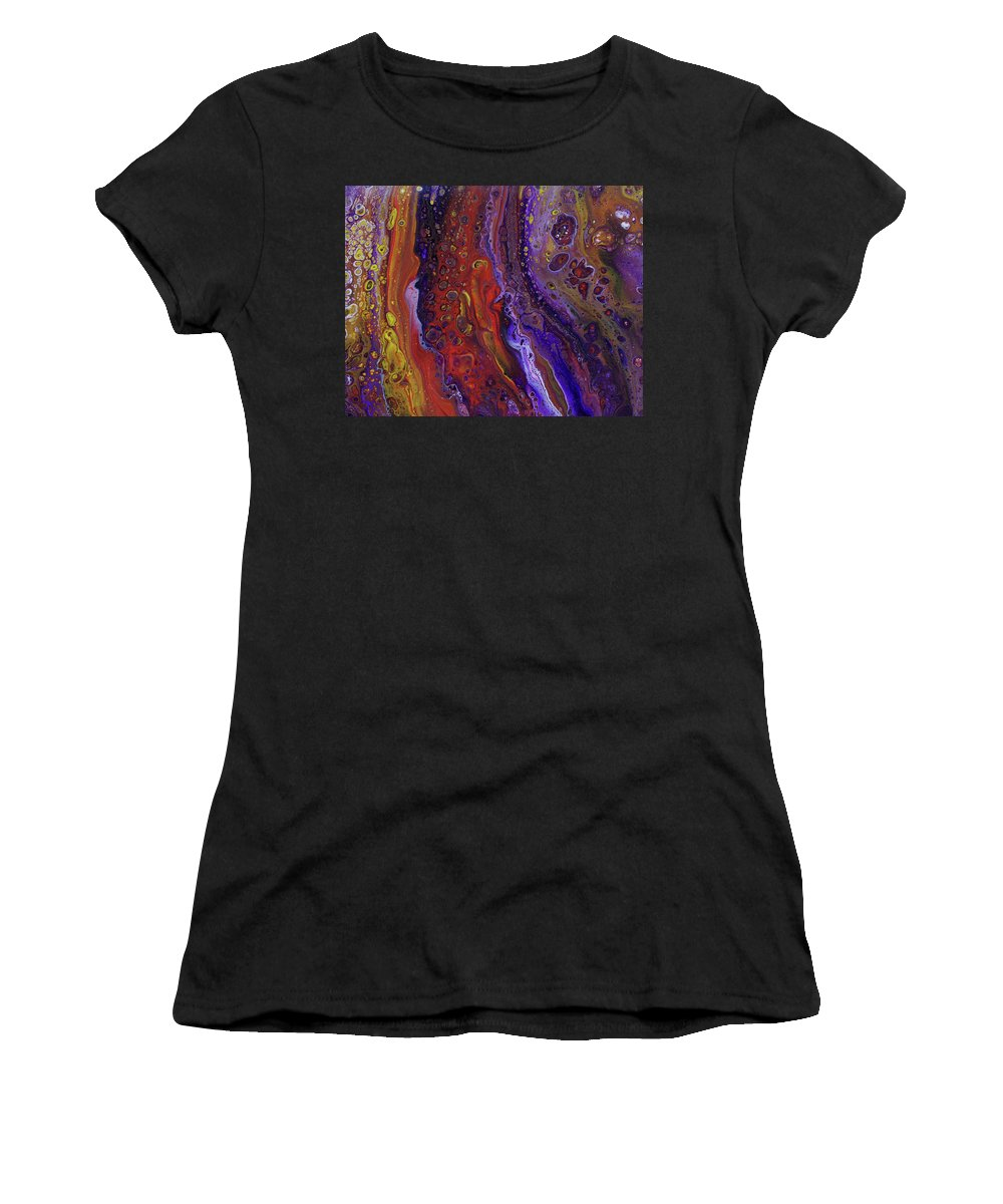 Orange Women's T-Shirt featuring the painting Crush by Nicole Hall