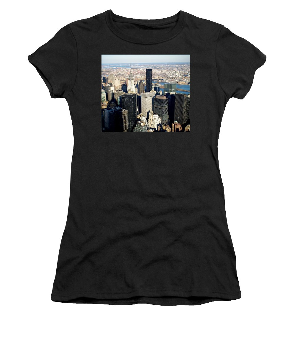 Crystler Building Women's T-Shirt (Athletic Fit) featuring the photograph Crystler Building 2 by Anita Burgermeister