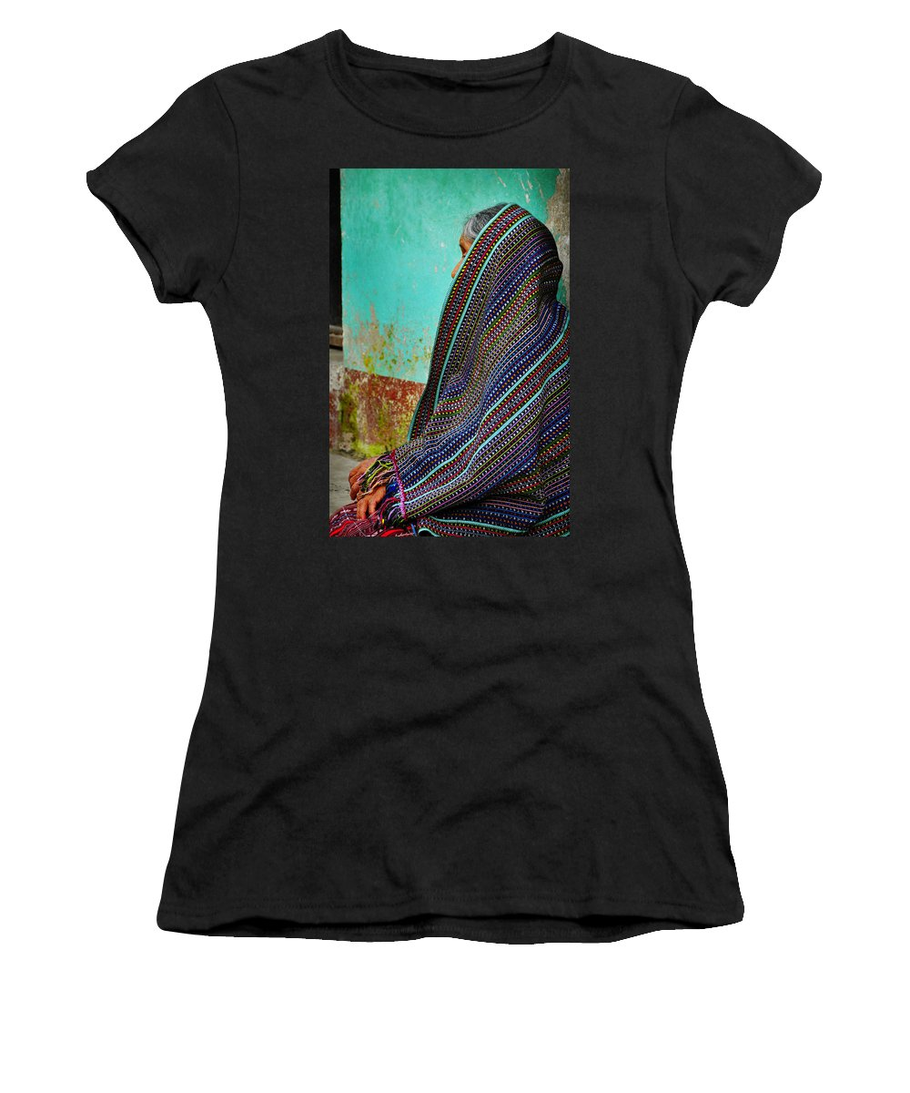 Skip Hunt Women's T-Shirt (Athletic Fit) featuring the photograph Curandera by Skip Hunt