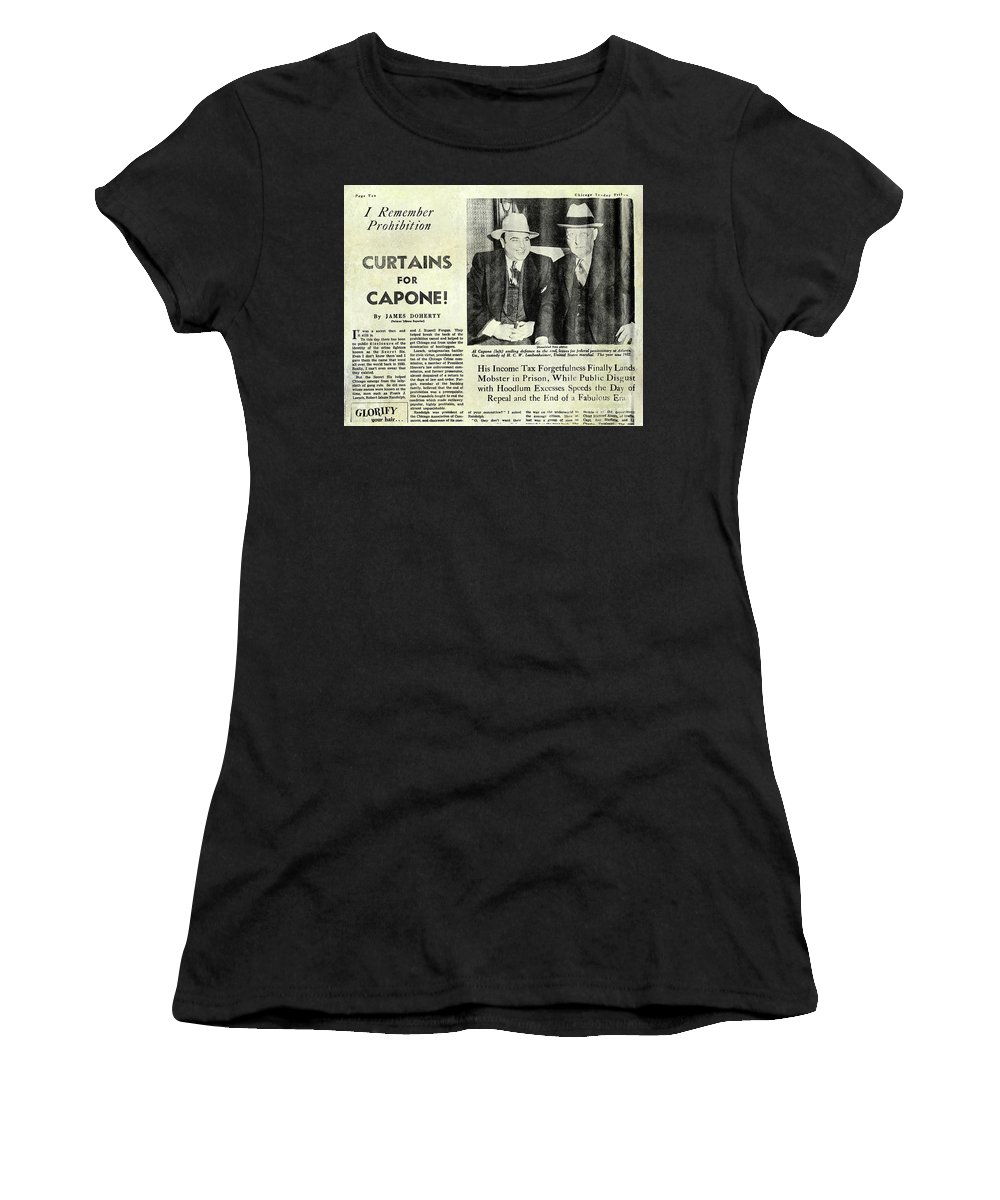 Prohibition Women's T-Shirt featuring the photograph Curtains For Capone by Jon Neidert