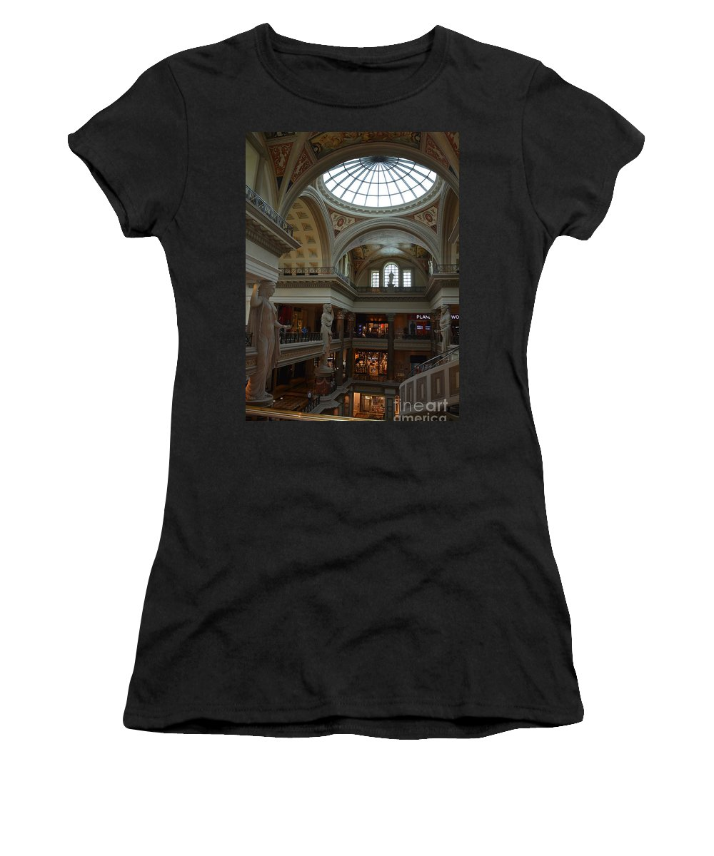 Los Vegas. Vacation Women's T-Shirt featuring the photograph Curvatures by Amanda Kessel