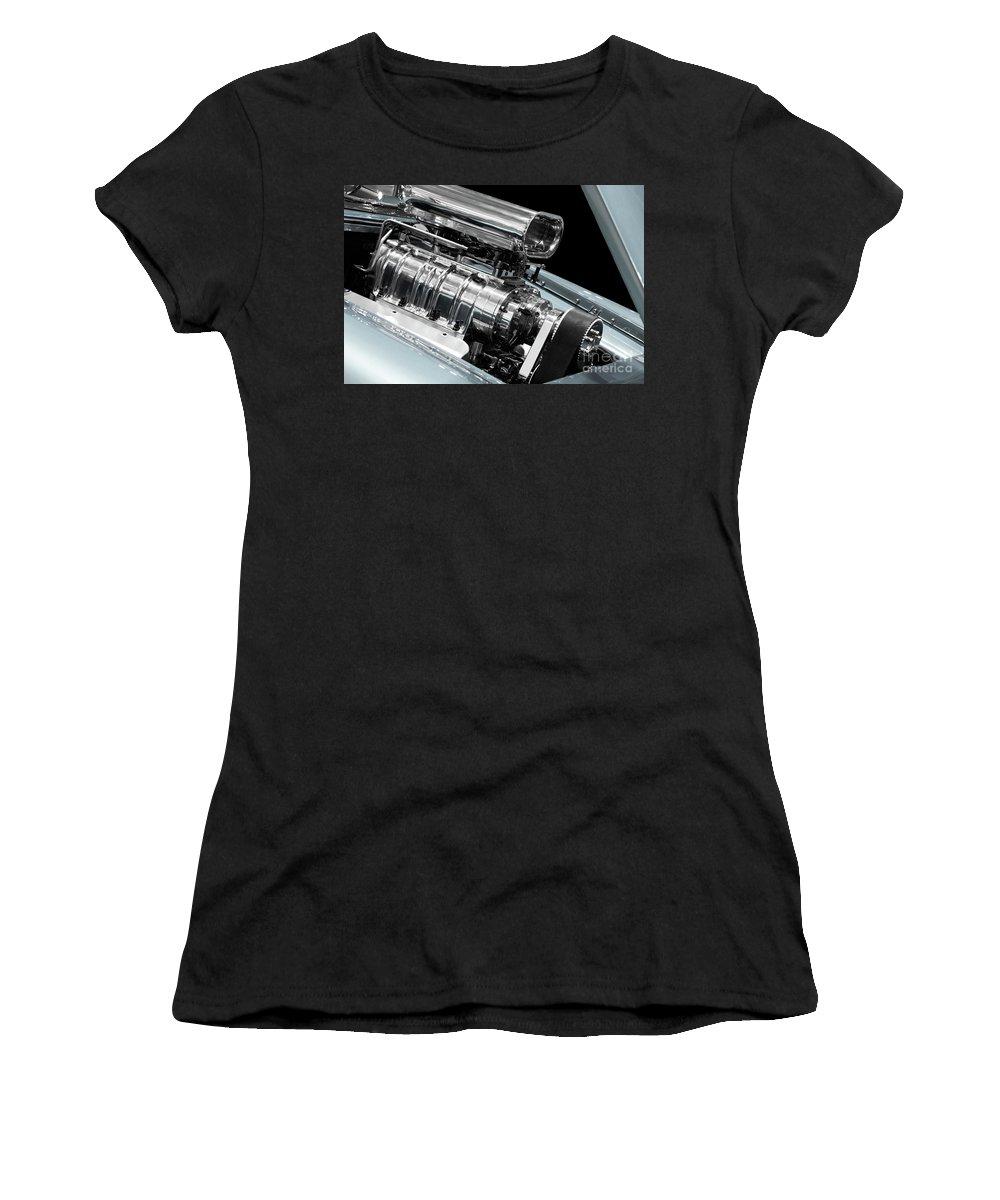 Engine Women's T-Shirt featuring the photograph Custom Racing Car Engine by Oleksiy Maksymenko
