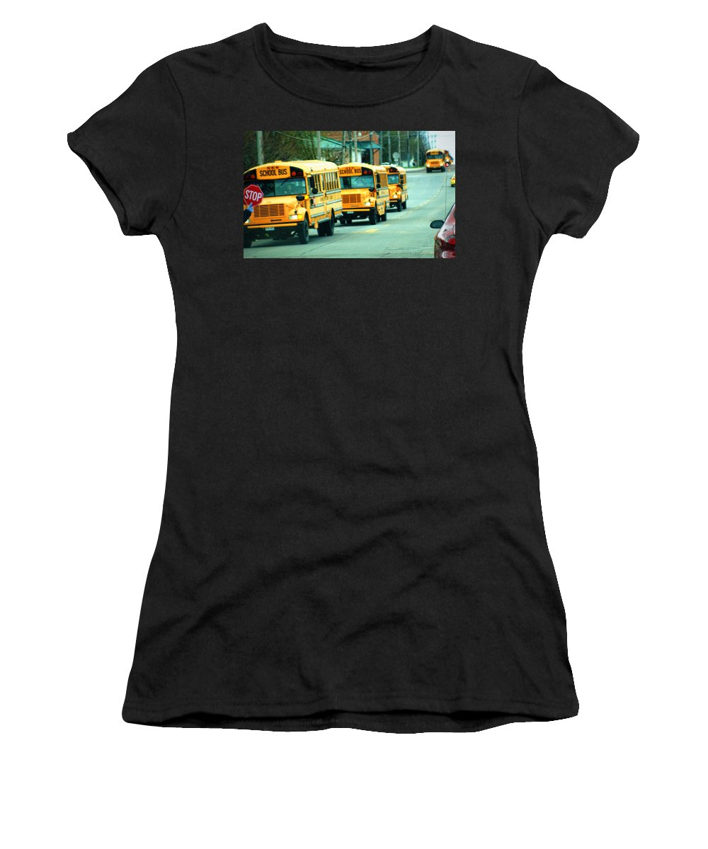 School Women's T-Shirt (Athletic Fit) featuring the photograph Daily Parade by Cricket Hackmann
