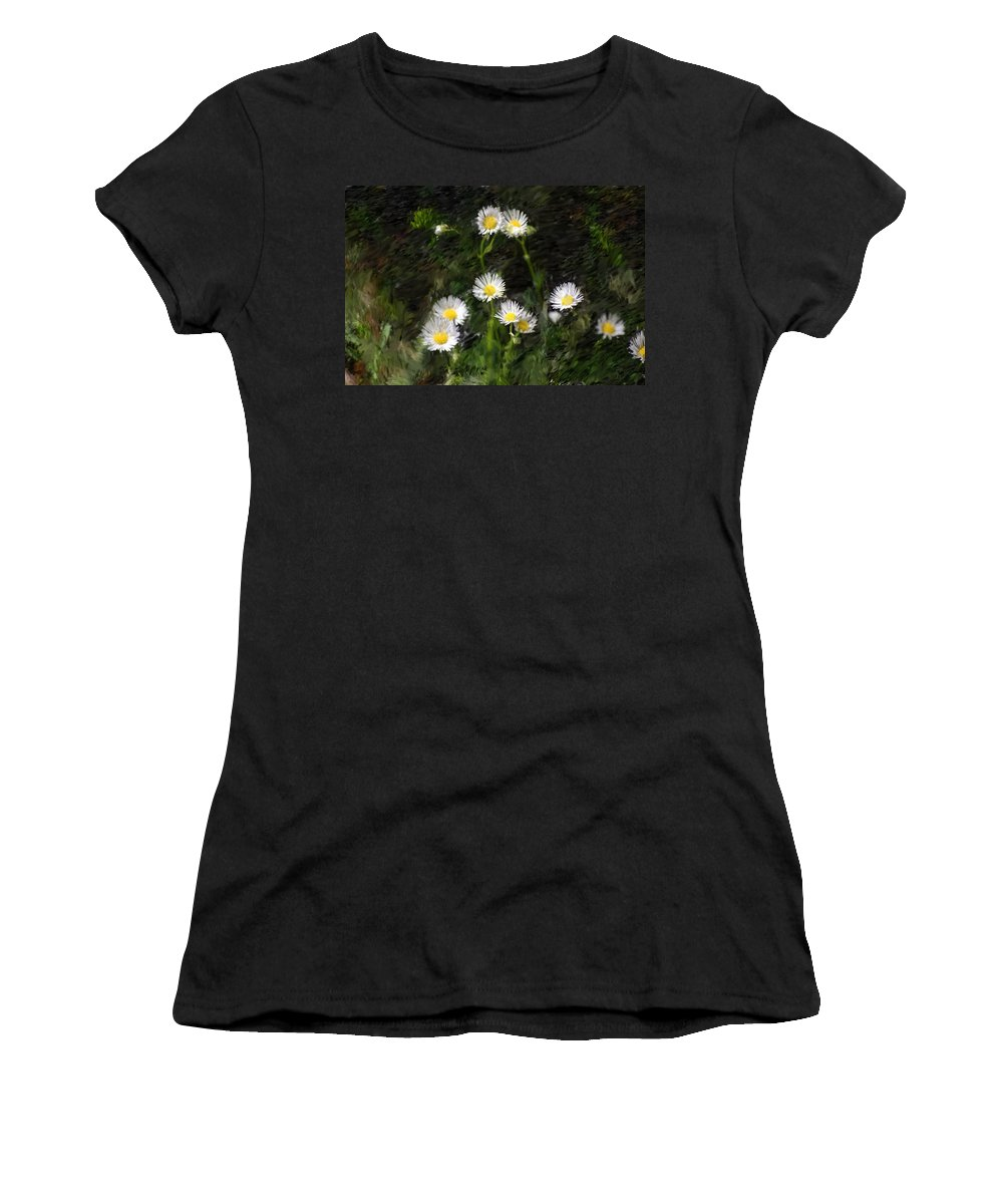 Digital Photograph Women's T-Shirt (Athletic Fit) featuring the photograph Daisy Day Fantasy by David Lane