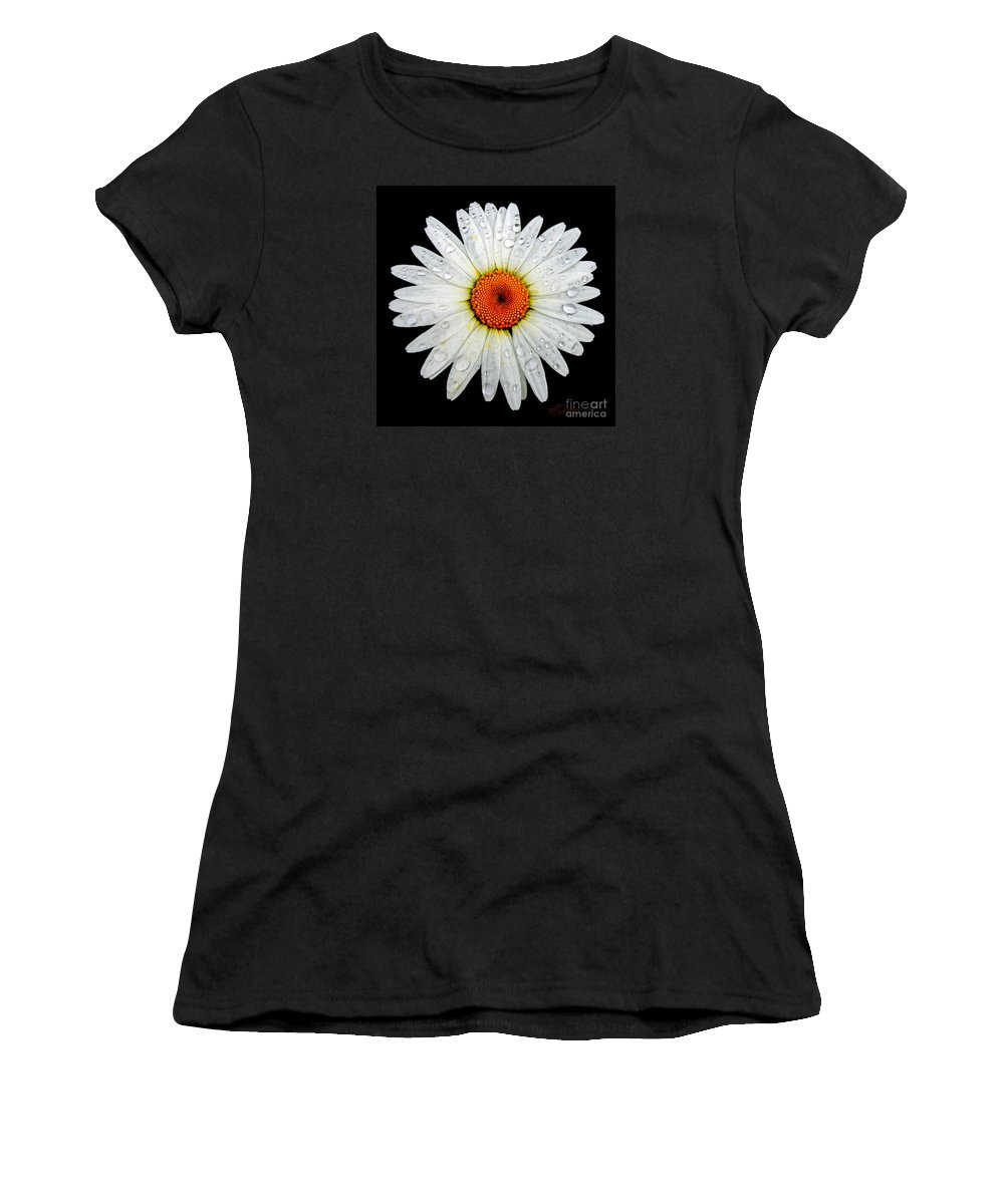 Daisy Women's T-Shirt (Athletic Fit) featuring the photograph Daisy by Patricia L Davidson