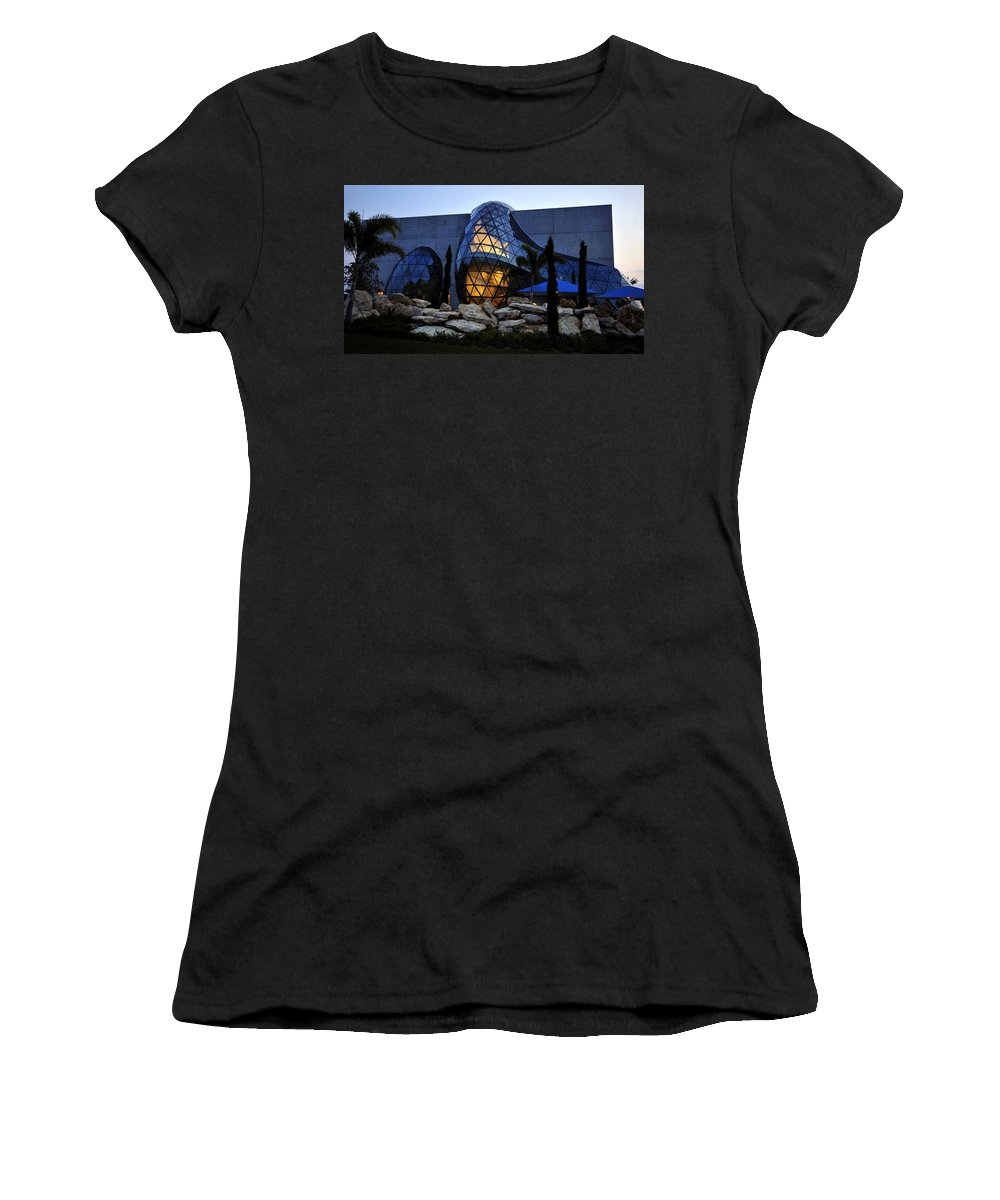 Fine Art Photography Women's T-Shirt (Athletic Fit) featuring the photograph Dali Night by David Lee Thompson