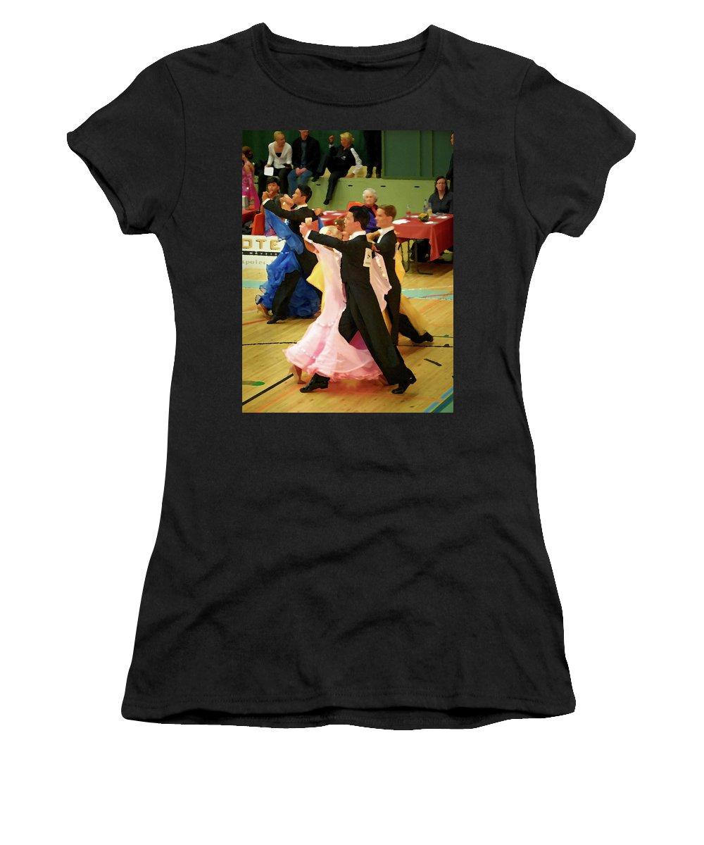 Lehtokukka Women's T-Shirt featuring the photograph Dance Contest Nr 18 by Jouko Lehto