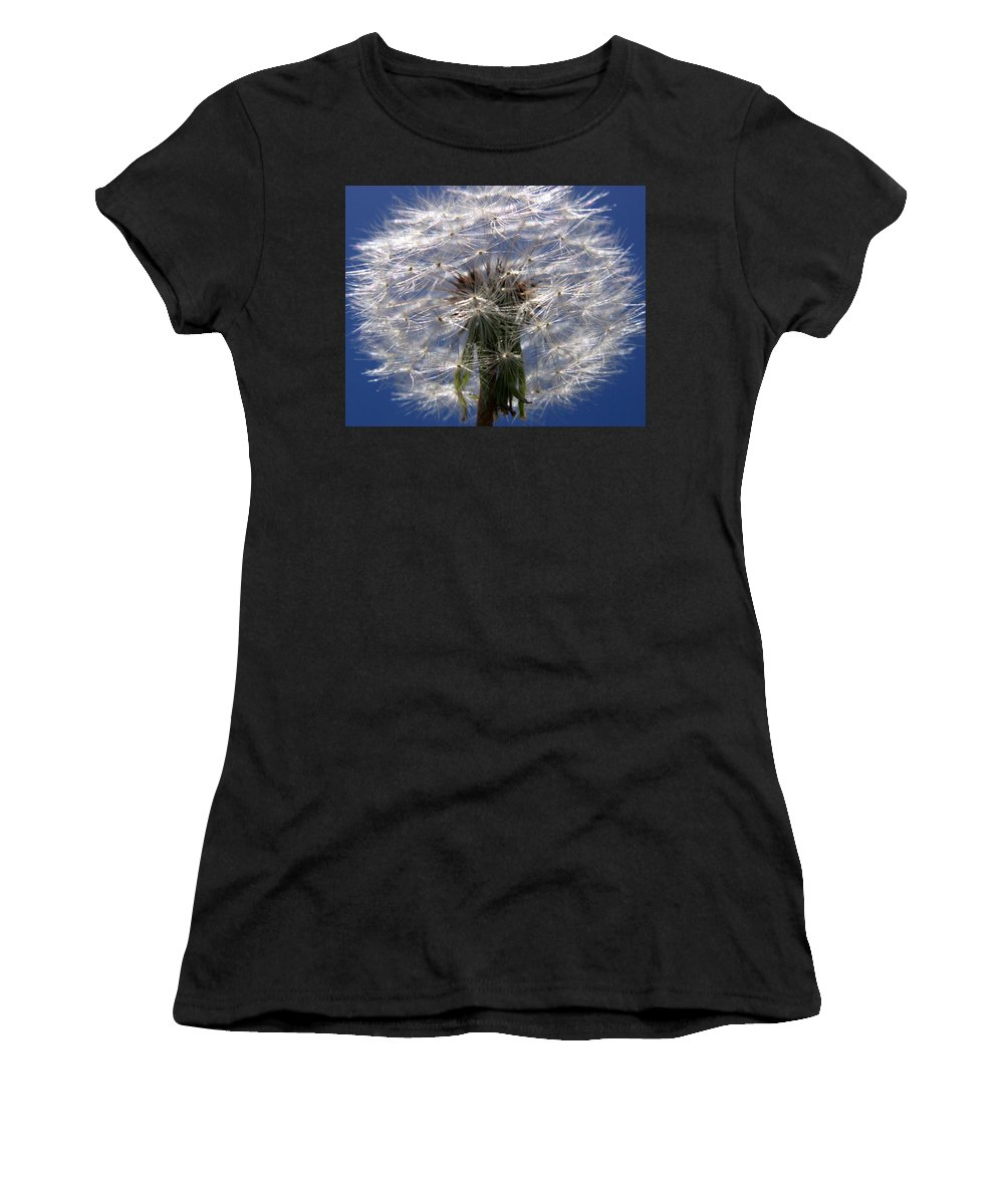 Dandelion Women's T-Shirt (Athletic Fit) featuring the photograph Dandelion by PIXELS XPOSED Ralph A Ledergerber Photography
