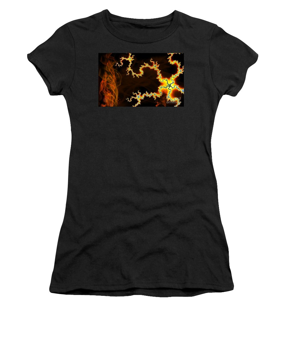 Clay Women's T-Shirt (Athletic Fit) featuring the digital art Dark World by Clayton Bruster