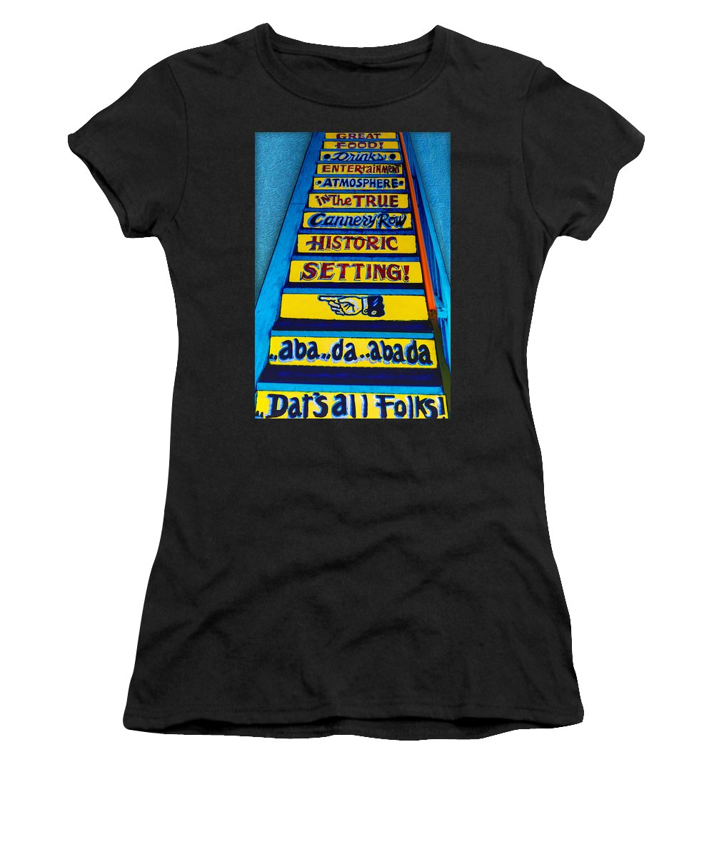 Aba Da Abada Women's T-Shirt (Athletic Fit) featuring the photograph Dat's All Folks by Paul Wear