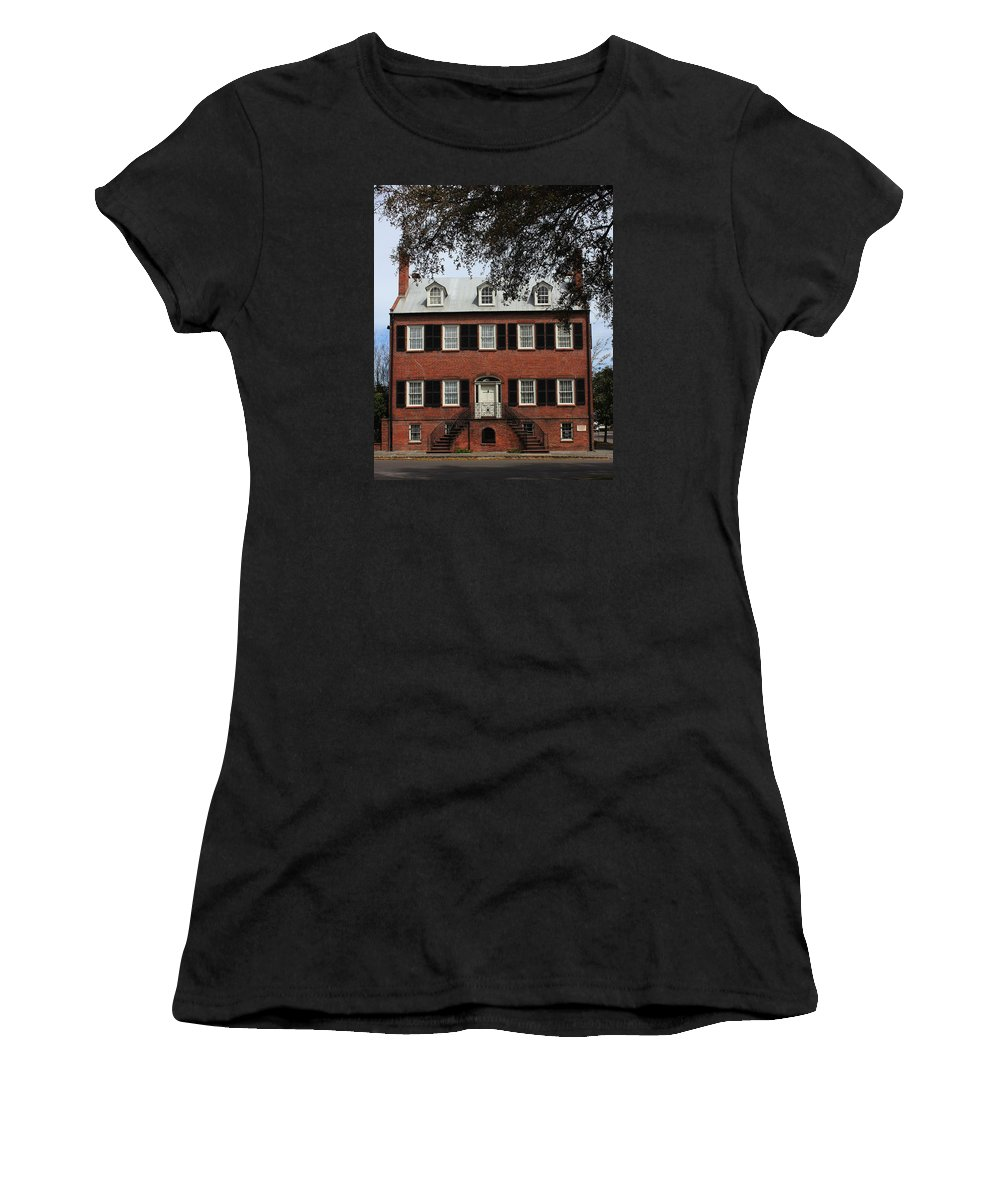 Davenport House Women's T-Shirt (Athletic Fit) featuring the photograph Davenport House by Arlene Showalter