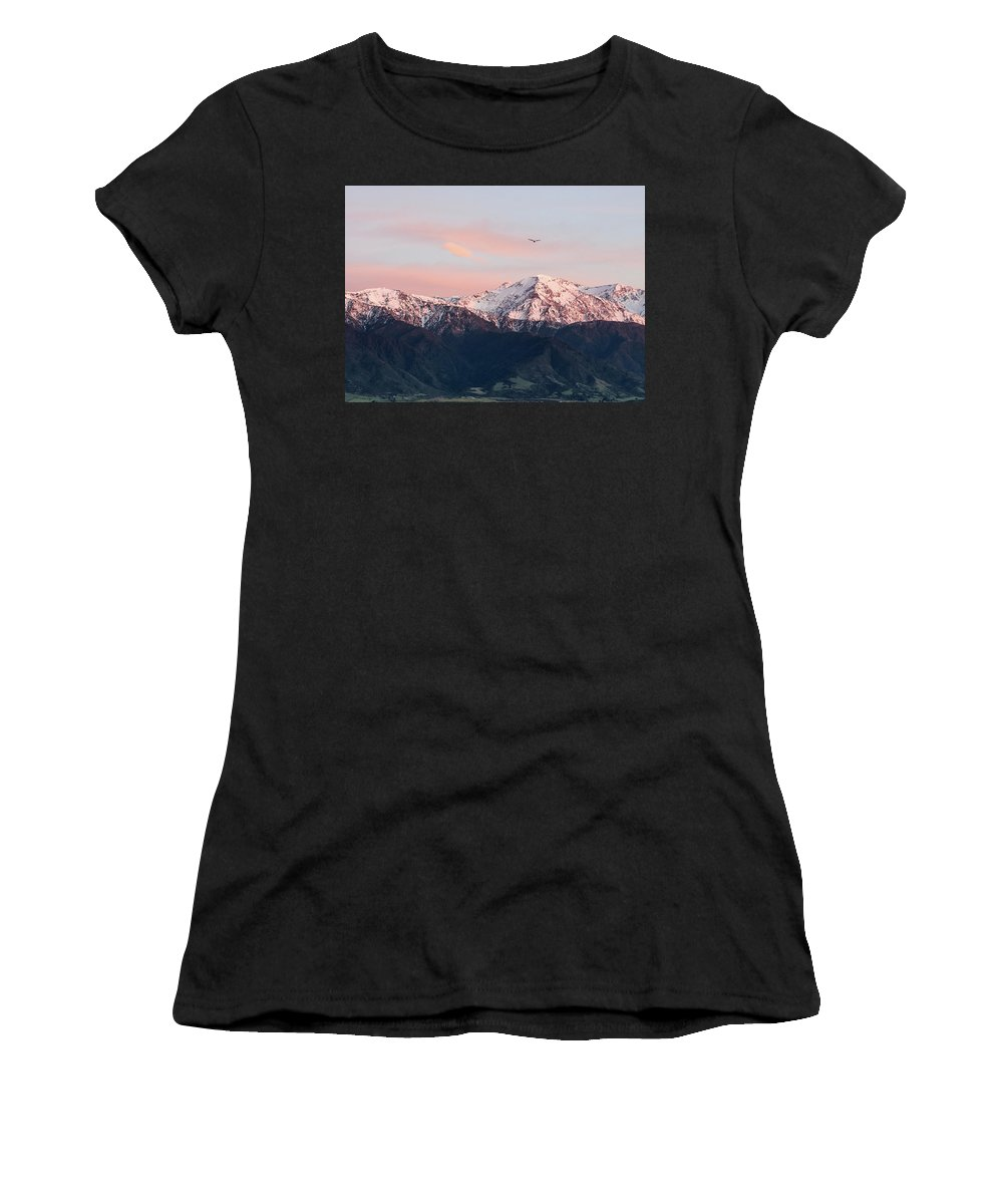 Kaikoura Women's T-Shirt (Athletic Fit) featuring the photograph Dawn Flight by M M Rainey
