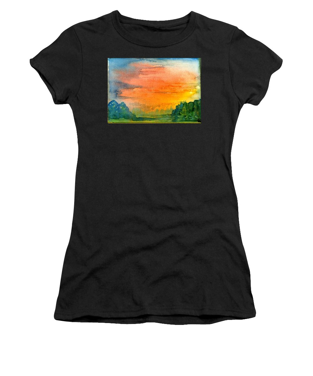 Sturminster Newton Paintings Women's T-Shirts