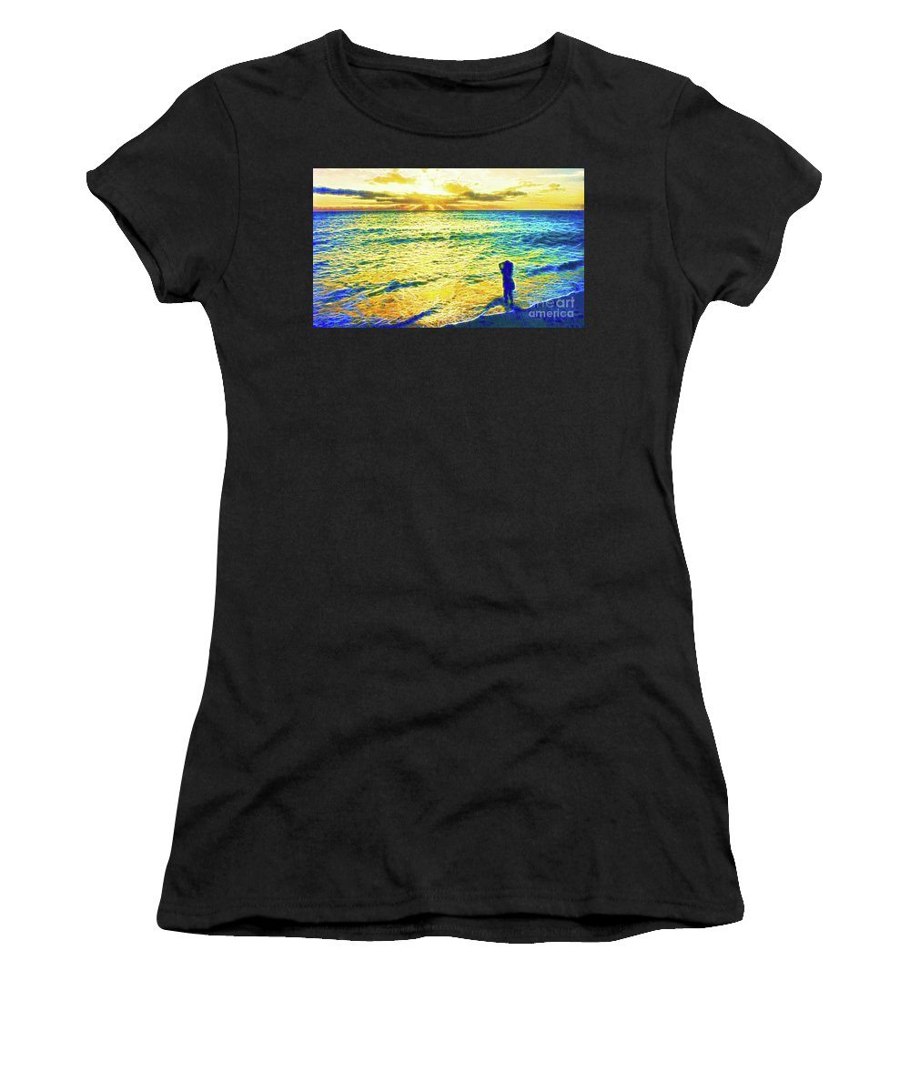 Dawn Women's T-Shirt (Athletic Fit) featuring the photograph Dawn Of A New Day by Jerome Stumphauzer