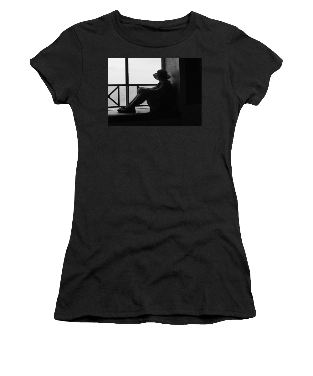 Black And White Women's T-Shirt featuring the photograph Daydreaming by Robert Meanor