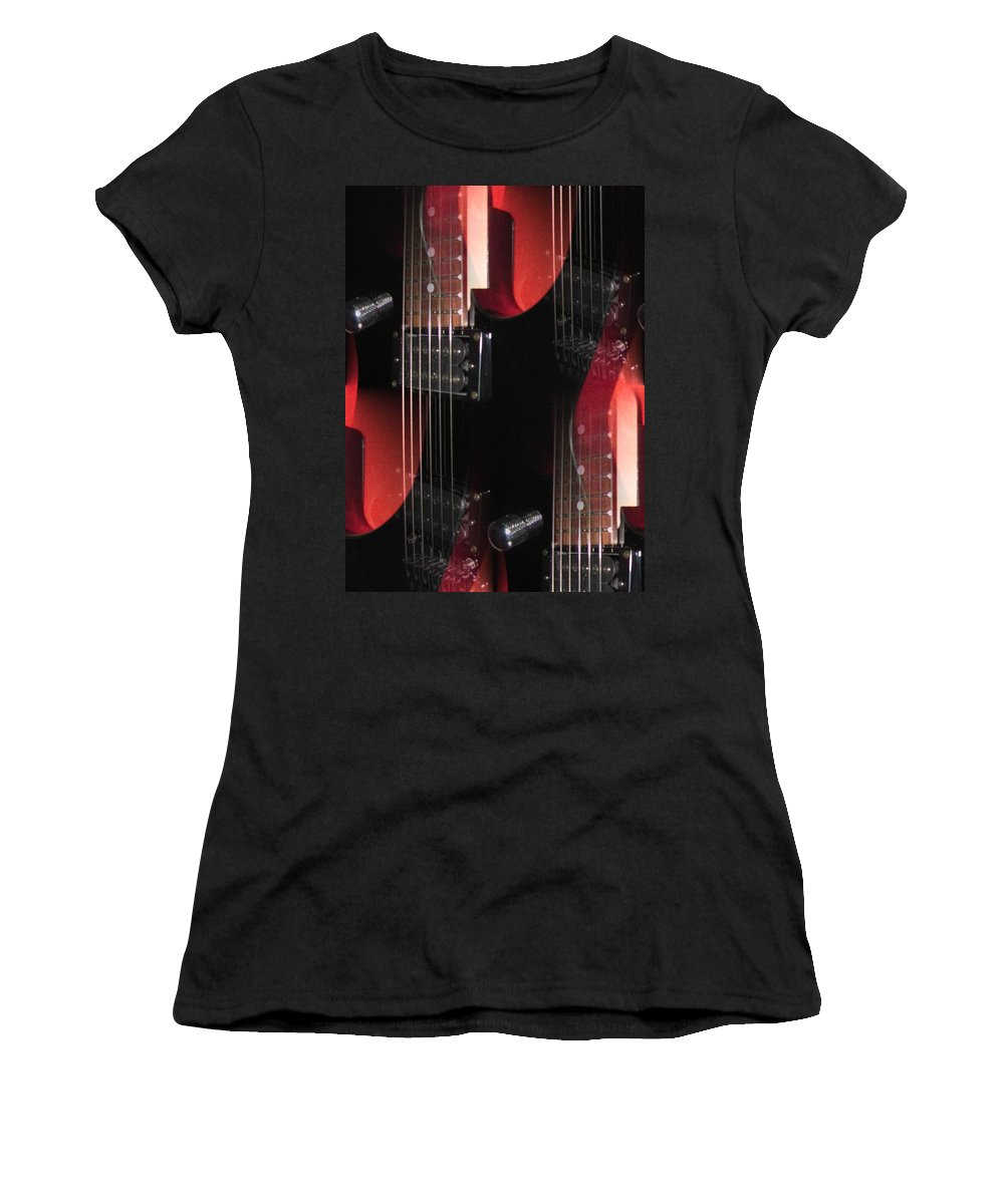 Guitar Women's T-Shirt (Athletic Fit) featuring the photograph Dazed by Jennie Richards