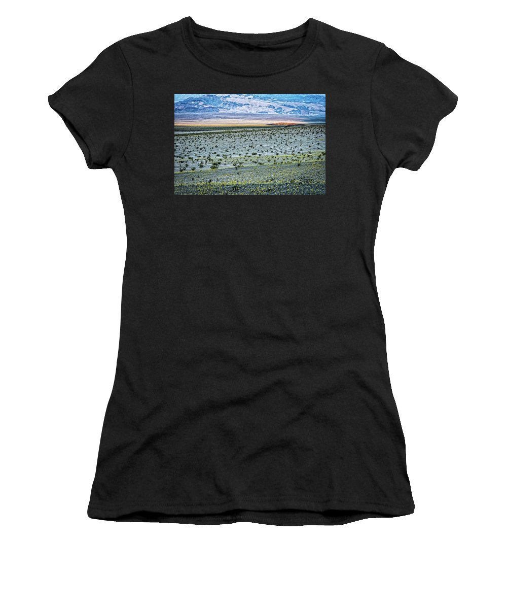 Death Valley Women's T-Shirt (Athletic Fit) featuring the photograph Death Valley Super Bloom by George Buxbaum