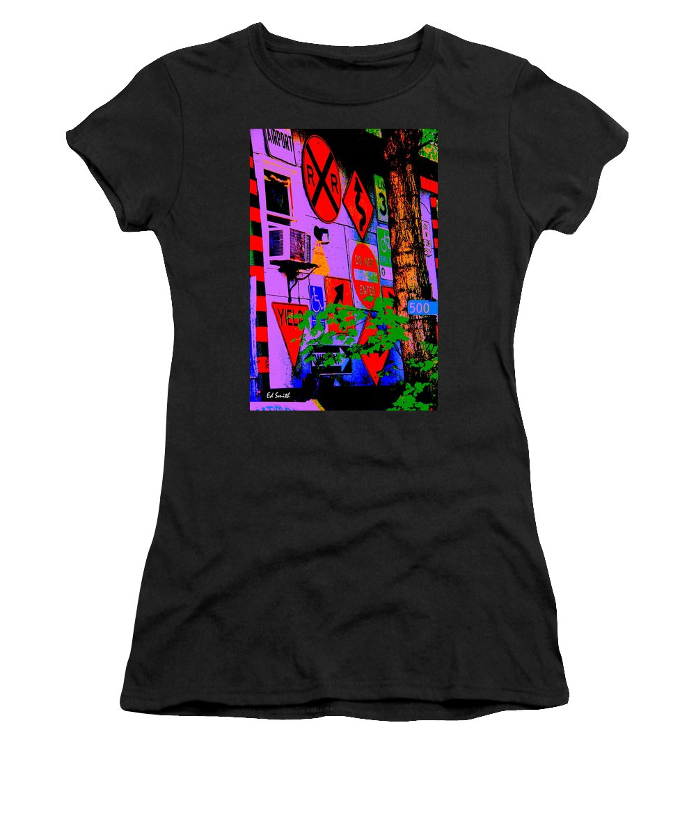 Decisions Decisions Women's T-Shirt (Athletic Fit) featuring the photograph Decisions Decisions by Ed Smith