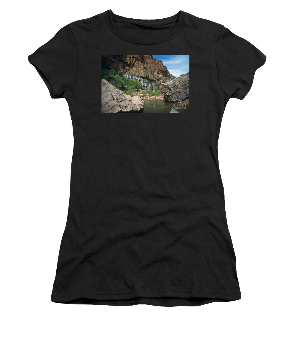 Landscape Women's T-Shirt (Athletic Fit) featuring the photograph Deep Water by Kathy McClure