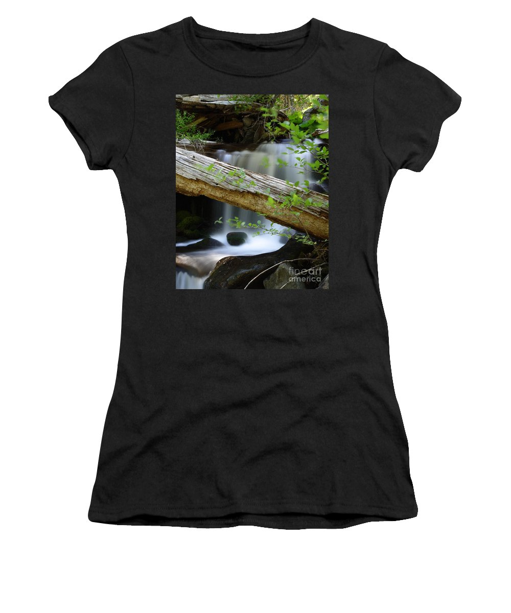 Creek Women's T-Shirt (Athletic Fit) featuring the photograph Deer Creek 13 by Peter Piatt