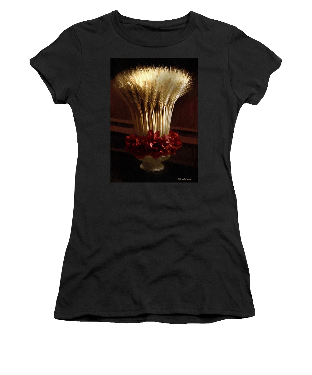 Still Life Women's T-Shirt (Athletic Fit) featuring the painting Demeter's Bouquet by RC DeWinter