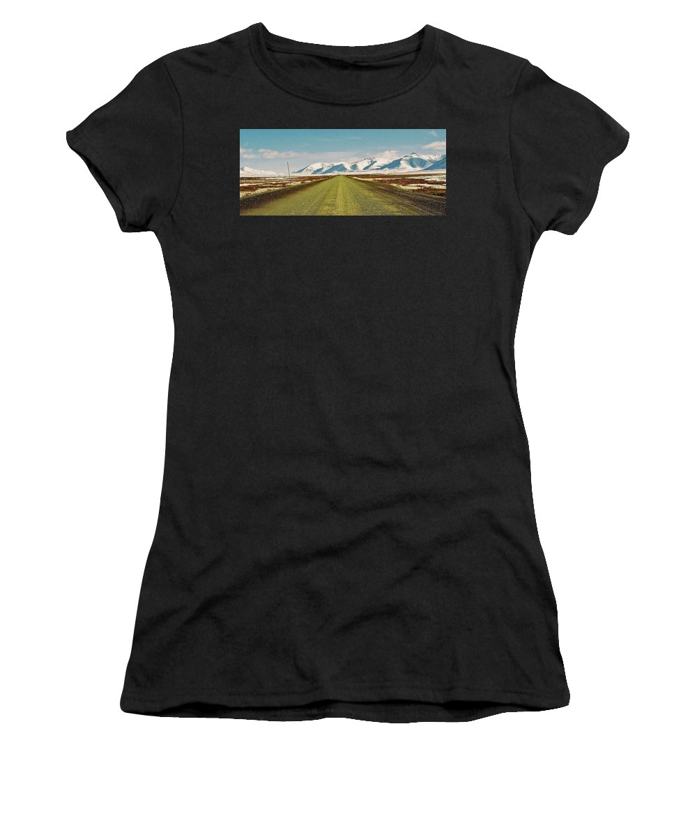 North America Women's T-Shirt (Athletic Fit) featuring the photograph Dempster Highway - Yukon by Juergen Weiss