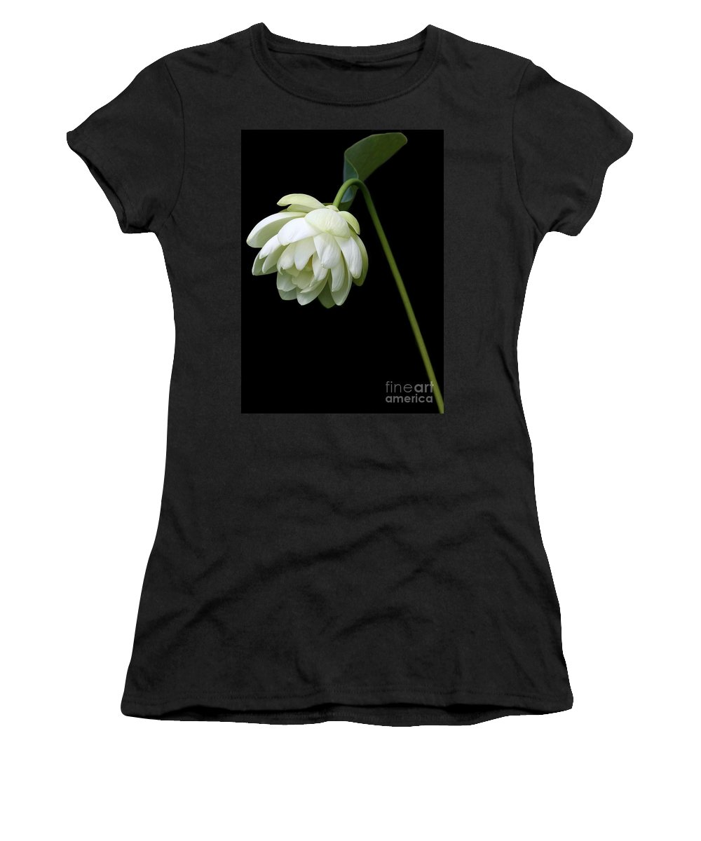Lotus Women's T-Shirt featuring the photograph Demure by Sabrina L Ryan