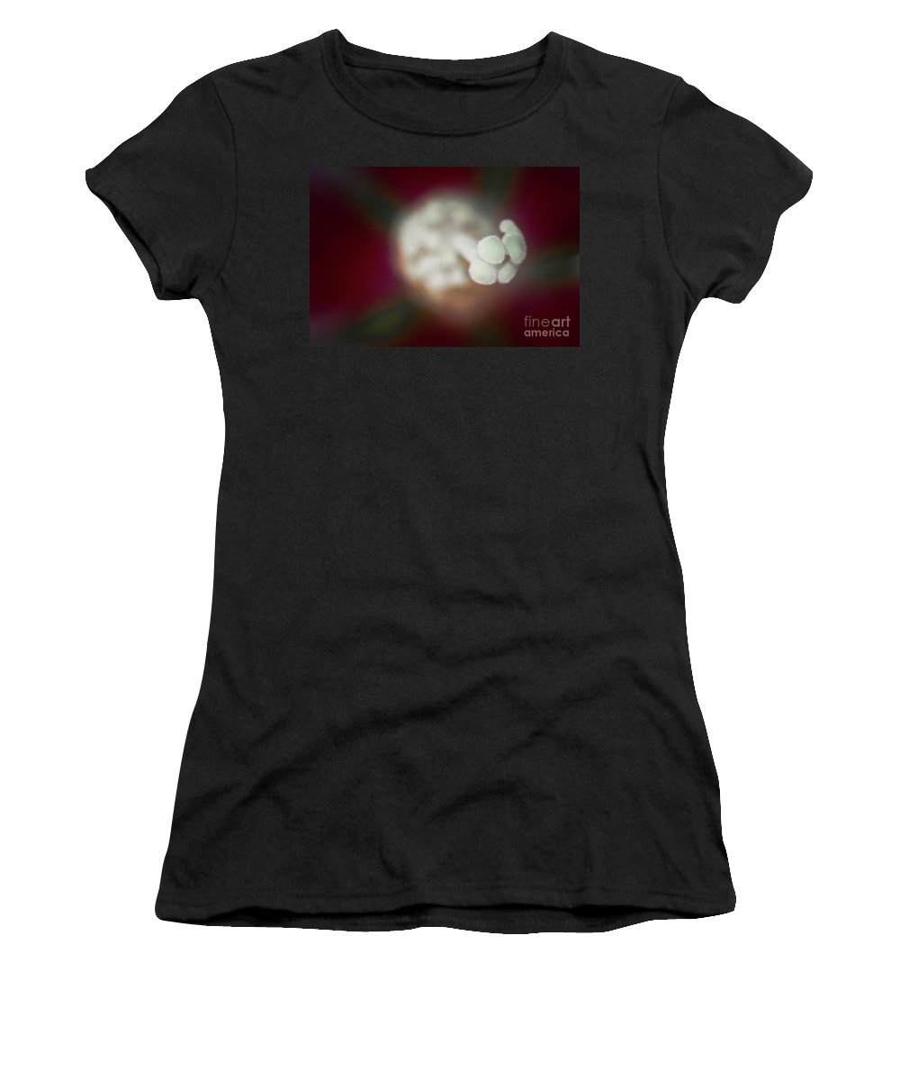 Macro Women's T-Shirt featuring the photograph Departure by Kim Henderson
