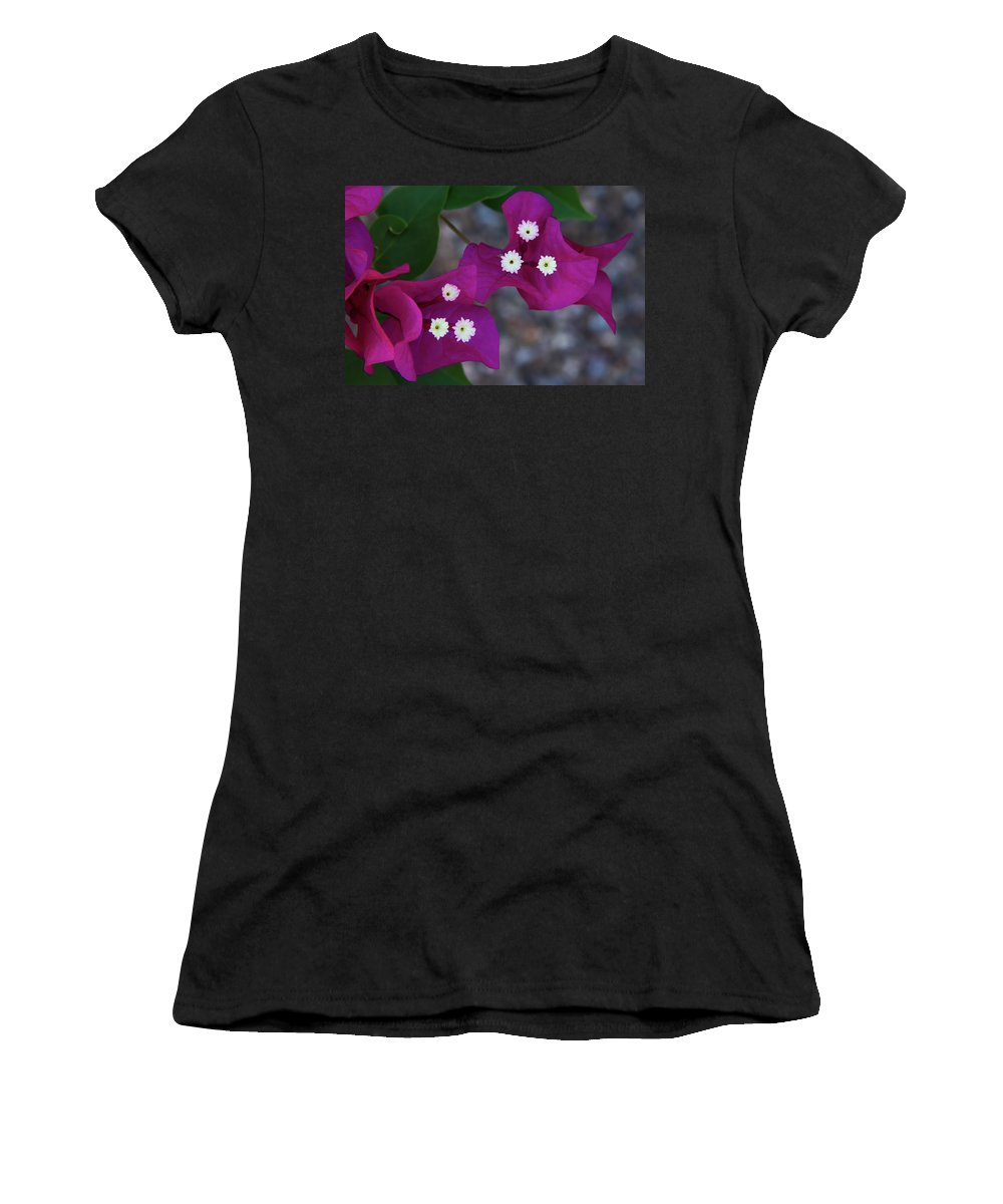 Flower Women's T-Shirt (Athletic Fit) featuring the photograph Desert Flower 2 by Guy Shultz