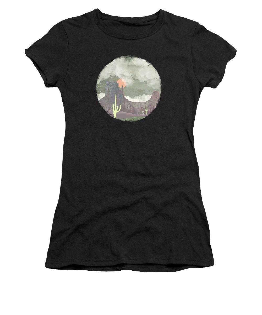 Desert Women's T-Shirt featuring the digital art Desertscape by Spacefrog Designs