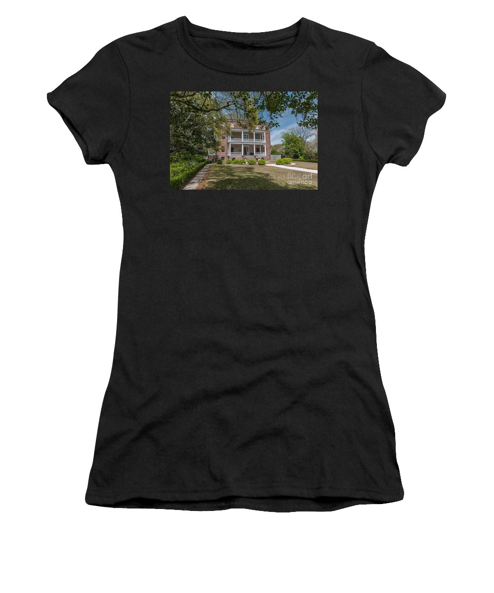 The Joseph Manigault House Women's T-Shirt (Athletic Fit) featuring the photograph Designed By Gabriel Manigault by Dale Powell