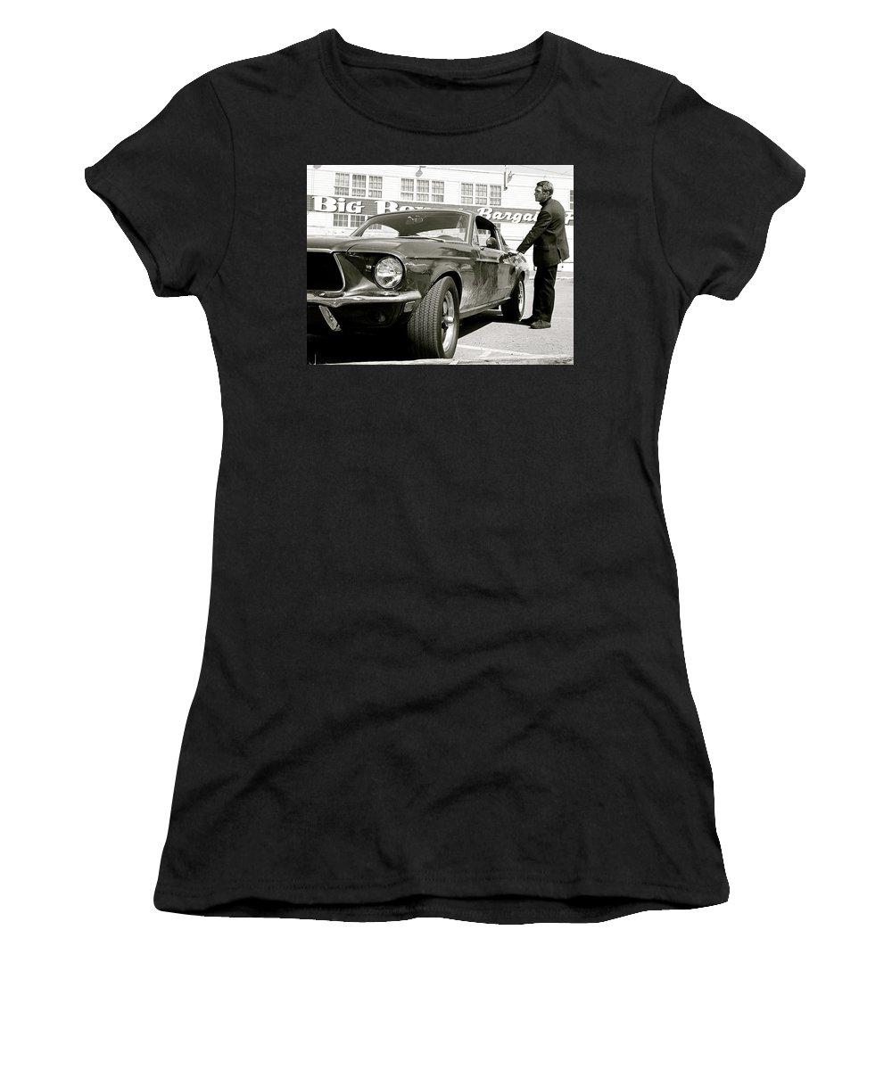 e582ebdca Bullitt Women's T-Shirt featuring the photograph Detective Lieutenant Frank  Bullitt, Steve Mcqueen,