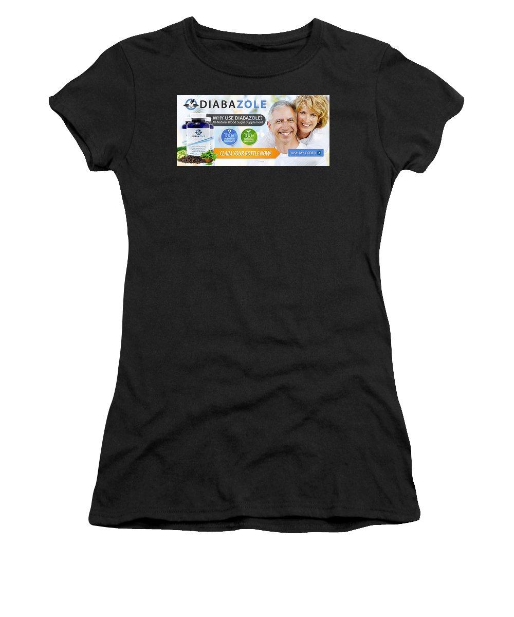 Diabazole Women's T-Shirt (Athletic Fit) featuring the drawing Diabazole by Diabazole