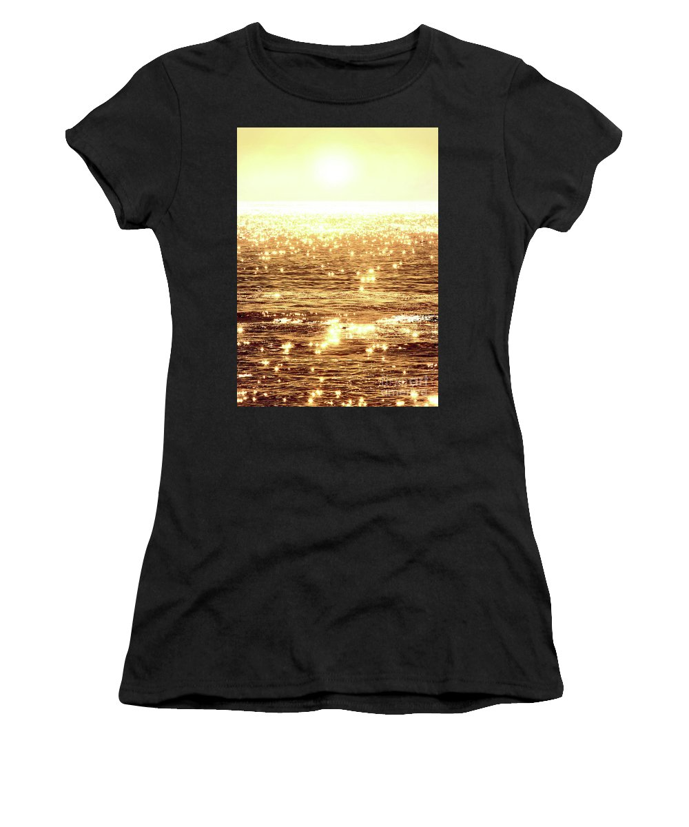 Ocean Women's T-Shirt featuring the photograph Diamonds by Michael Rock