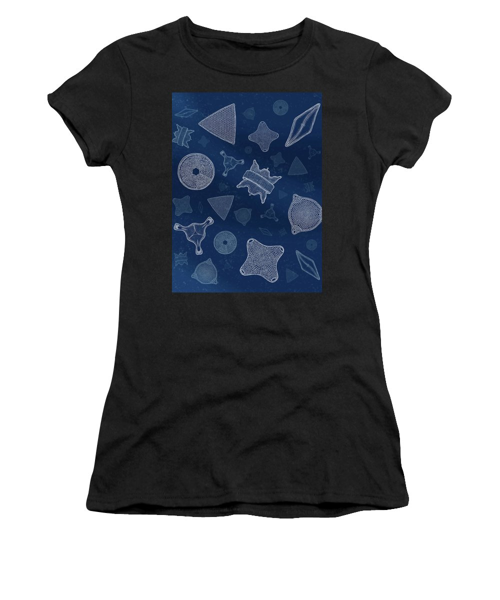 Diatoms Women's T-Shirt (Athletic Fit) featuring the digital art Diatoms by Carl Conway