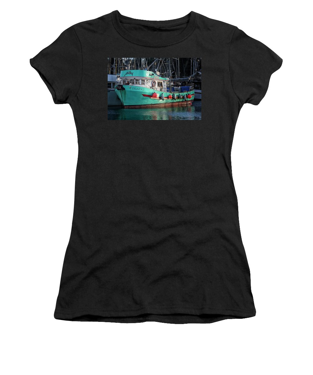 Diligence Women's T-Shirt featuring the photograph Diligence At French Creek by Randy Hall