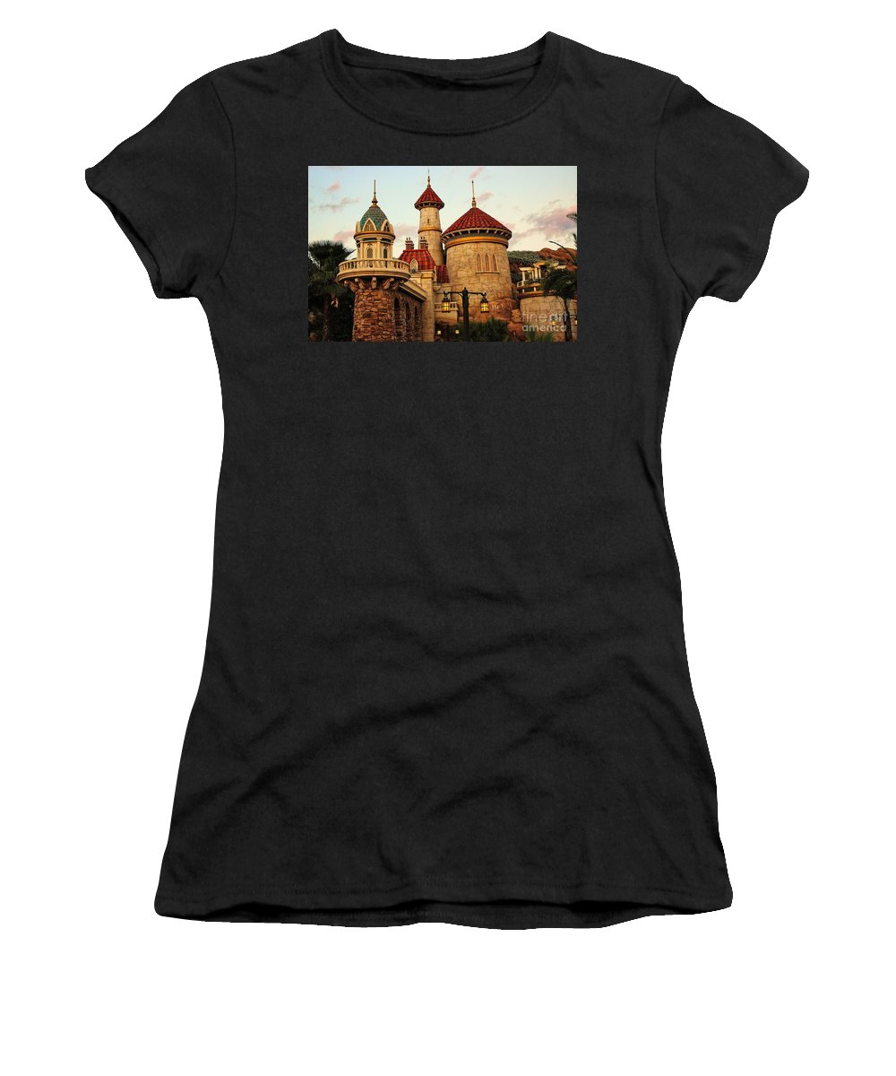 Disney Women's T-Shirt (Athletic Fit) featuring the photograph Disney World by Paulette Thomas