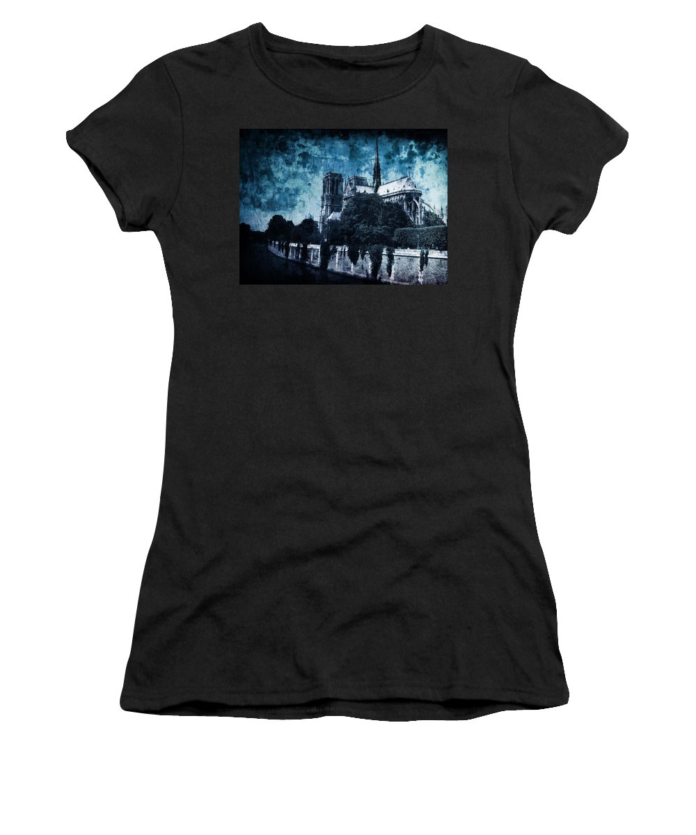 Architecture Women's T-Shirt (Athletic Fit) featuring the photograph Dissipating Rapture by Andrew Paranavitana