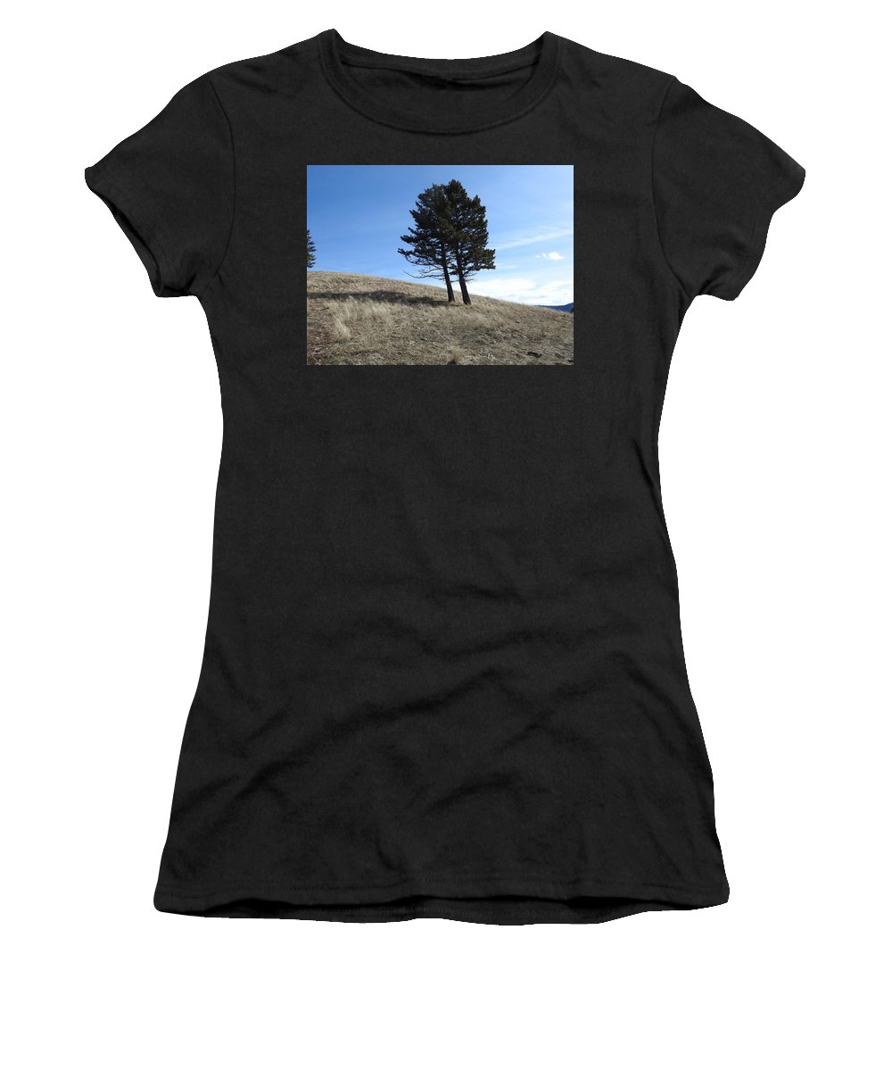 Women's T-Shirt (Athletic Fit) featuring the photograph Divine Hill by Dan Hassett