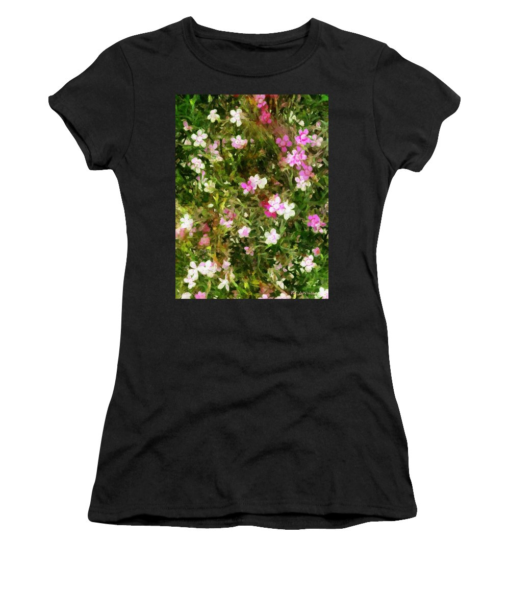 Dianthus Women's T-Shirt featuring the painting Divine Maidens by RC DeWinter