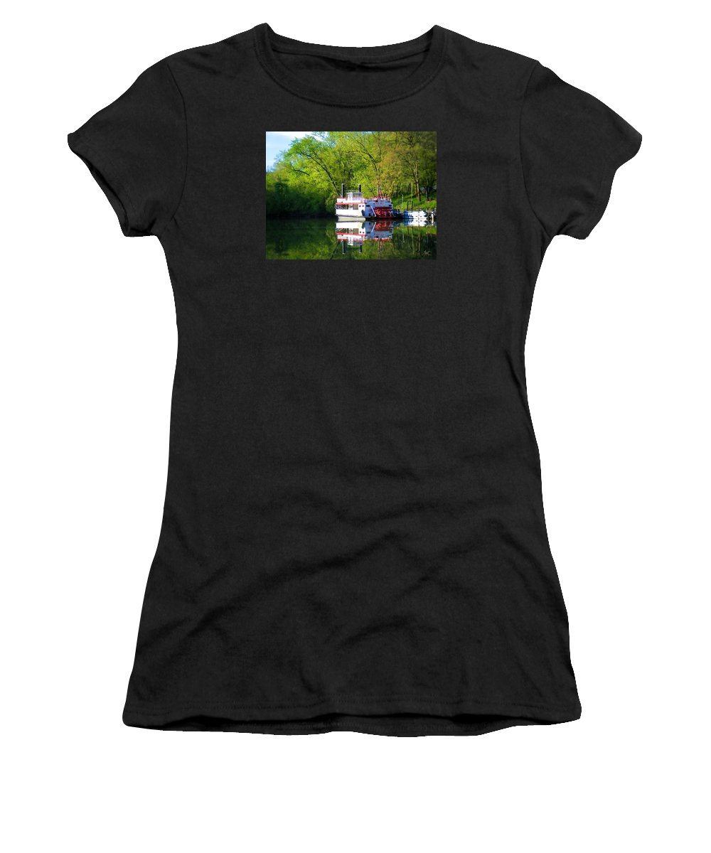 Shaker Women's T-Shirt (Athletic Fit) featuring the photograph Dixie Belle River Boat by Sam Davis Johnson
