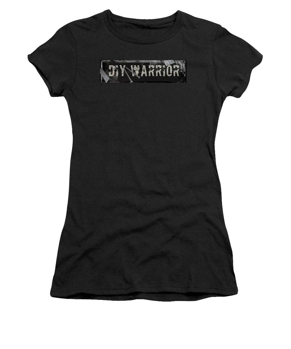 Mancave Women's T-Shirt featuring the painting Diy Warrior by Mindy Sommers