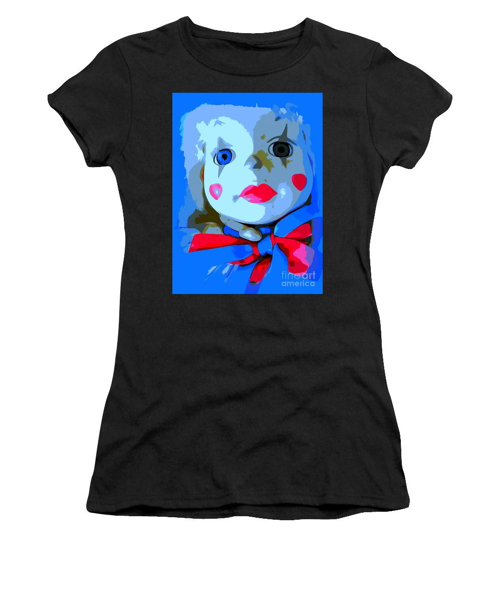 Digital Women's T-Shirt (Athletic Fit) featuring the photograph Doll In Blue by Ed Weidman