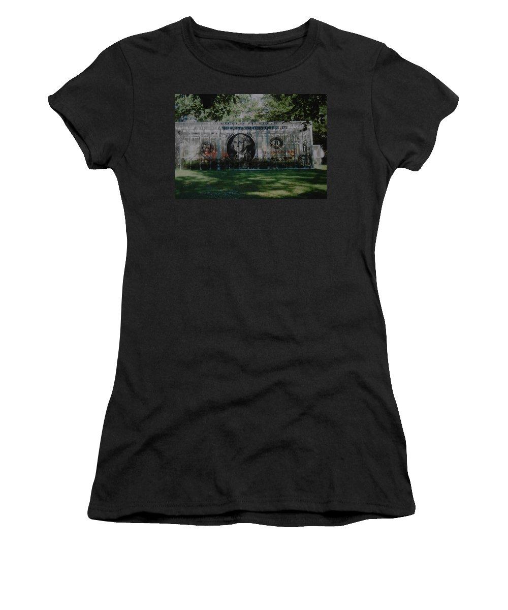 Park Women's T-Shirt featuring the photograph Dollar Bill by Rob Hans