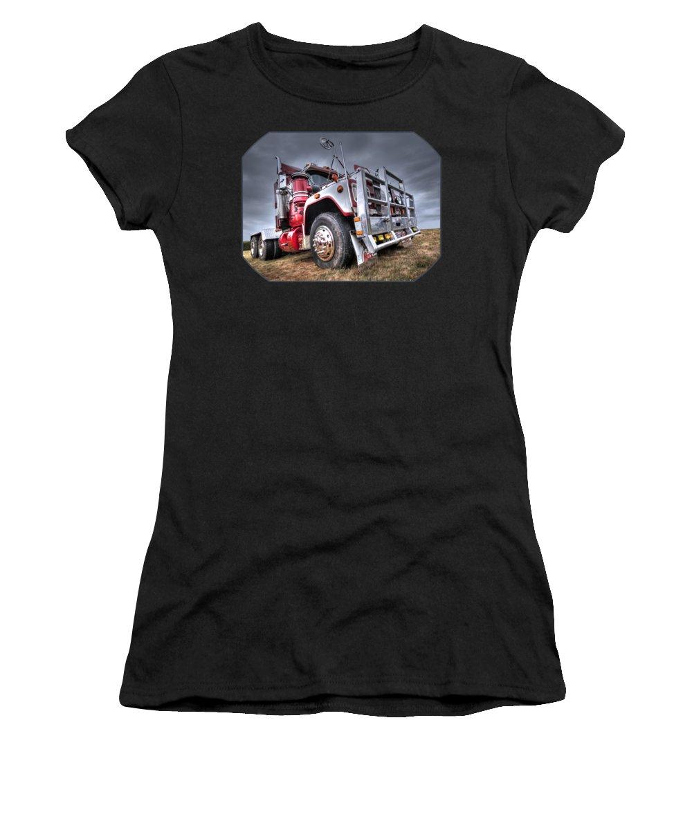 Semi Truck Photographs Women's T-Shirts