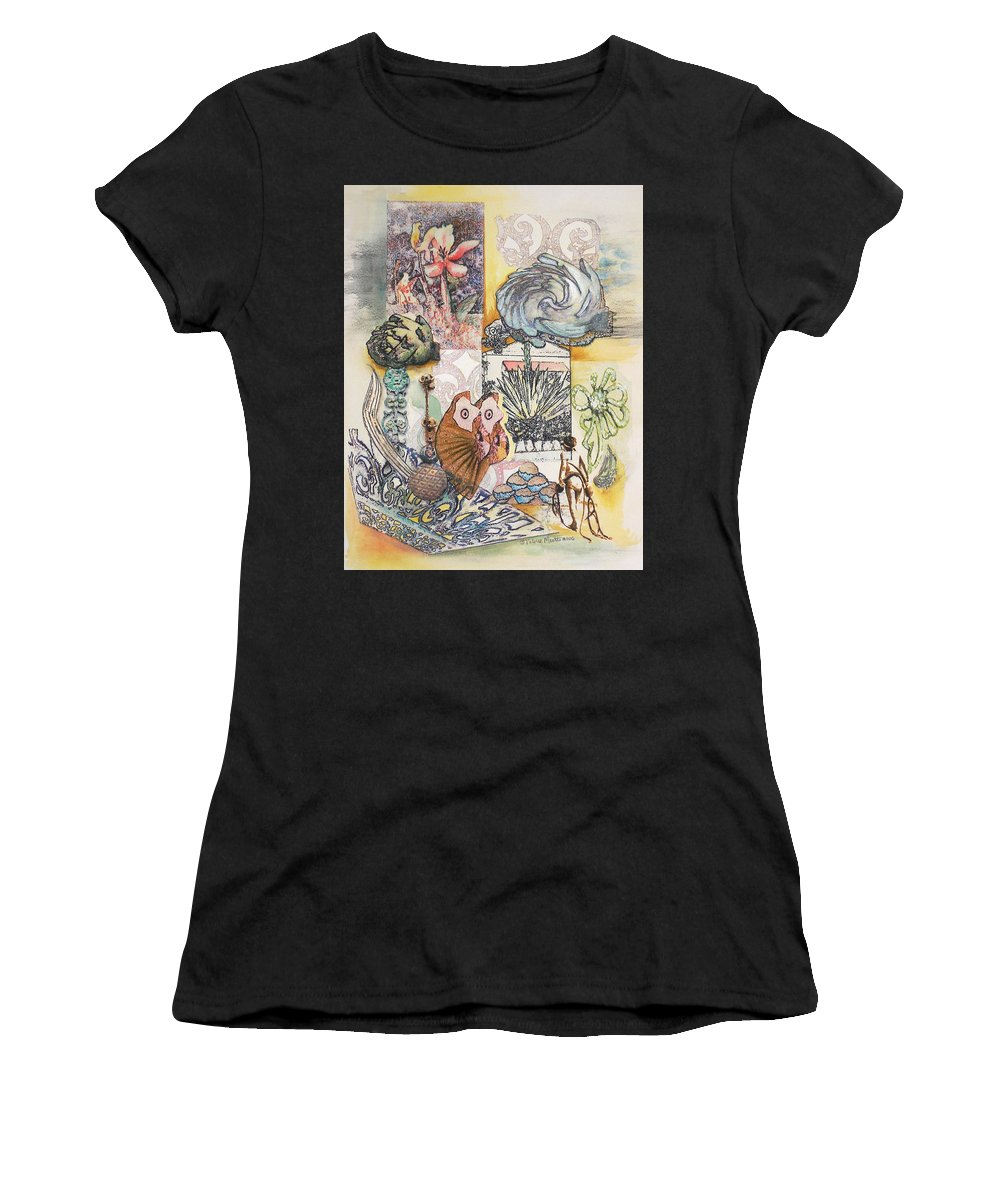 Abstract Women's T-Shirt (Athletic Fit) featuring the painting Don't Artichoke by Valerie Meotti